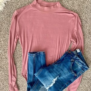 Pink Fitted Bodysuit
